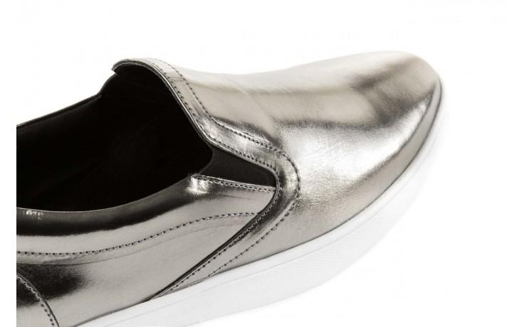 Trampki bayla-123 5500126 platinum, srebrny, skóra naturalna - bayla - nasze marki 5