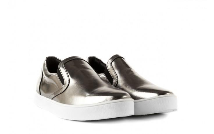 Trampki bayla-123 5500126 platinum, srebrny, skóra naturalna - bayla - nasze marki 1