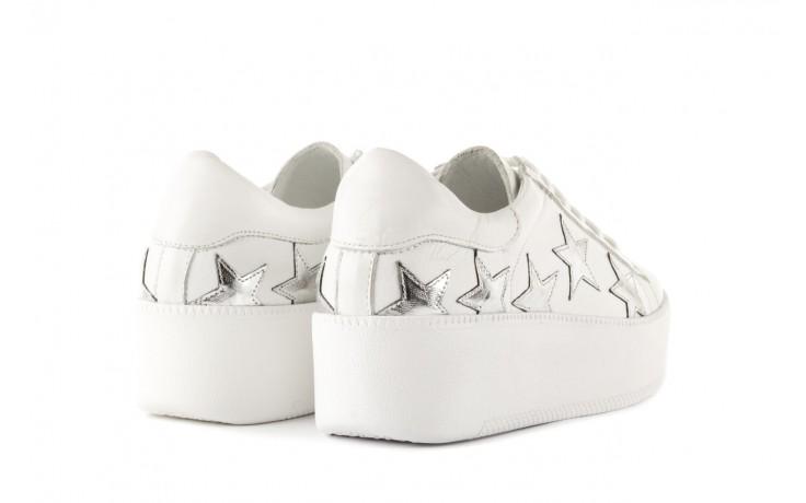 Trampki bayla-123 5502102 white, biały, skóra naturalna - skórzane - trampki - buty damskie - kobieta 3