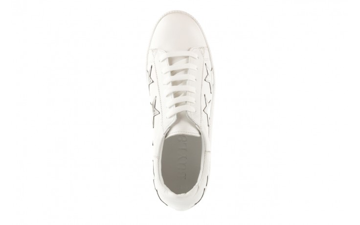 Trampki bayla-123 5502102 white, biały, skóra naturalna - skórzane - trampki - buty damskie - kobieta 4