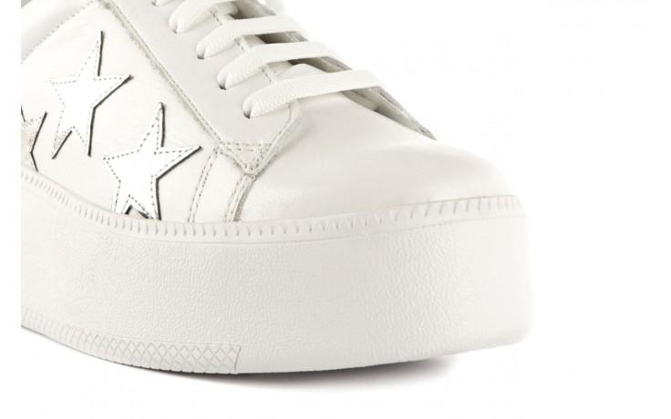 Trampki bayla-123 5502102 white, biały, skóra naturalna - skórzane - trampki - buty damskie - kobieta 5