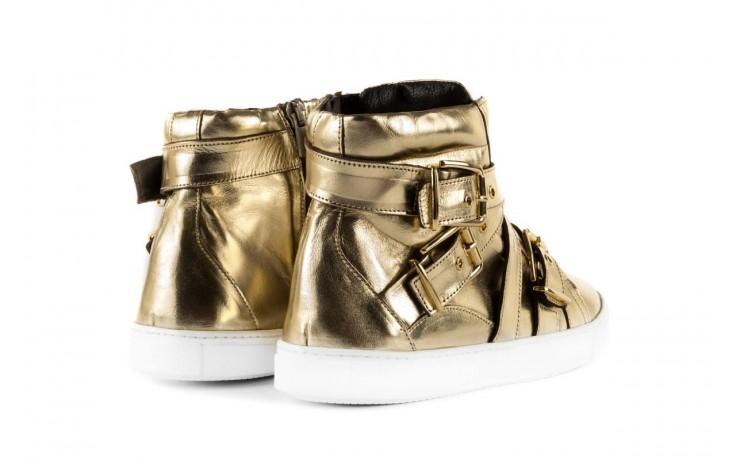 Trampki bayla-123 5901137 gold, złoty, skóra naturalna - wysokie - trampki - buty damskie - kobieta 3