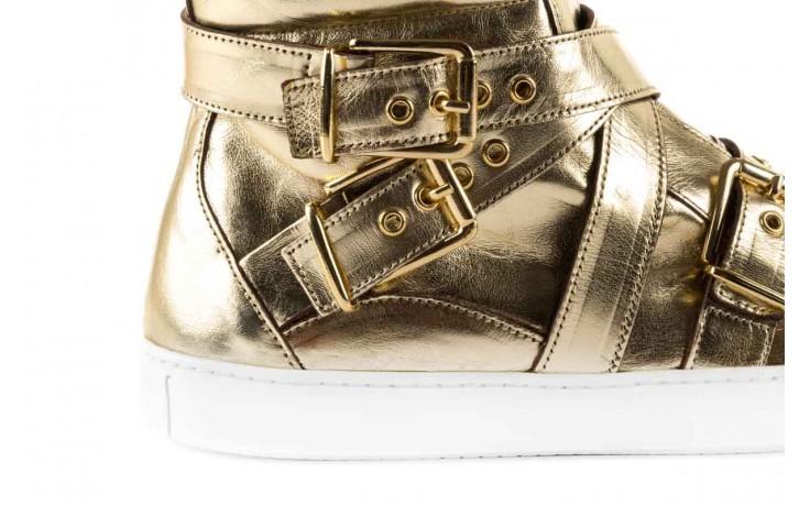 Trampki bayla-123 5901137 gold, złoty, skóra naturalna - wysokie - trampki - buty damskie - kobieta 4