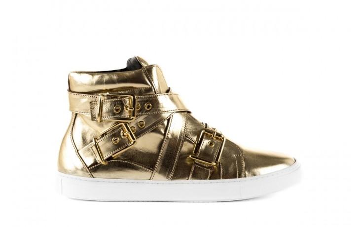 Trampki bayla-123 5901137 gold, złoty, skóra naturalna - wysokie - trampki - buty damskie - kobieta