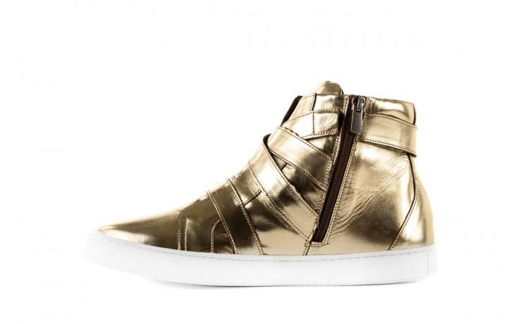 Trampki bayla-123 5901137 gold, złoty, skóra naturalna - wysokie - trampki - buty damskie - kobieta 2