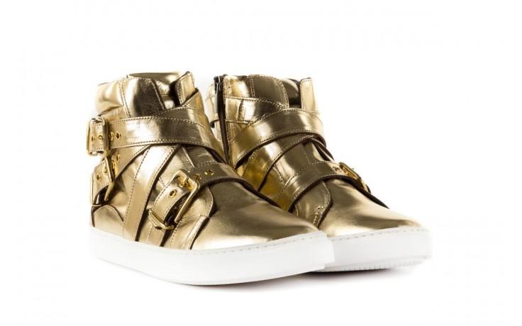 Trampki bayla-123 5901137 gold, złoty, skóra naturalna - wysokie - trampki - buty damskie - kobieta 1
