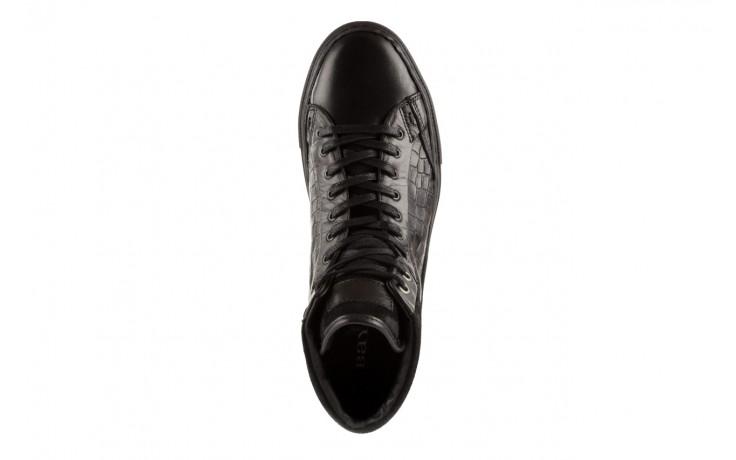 Trampki bayla-124 395 black, czarny, skóra naturalna - bayla - nasze marki 4