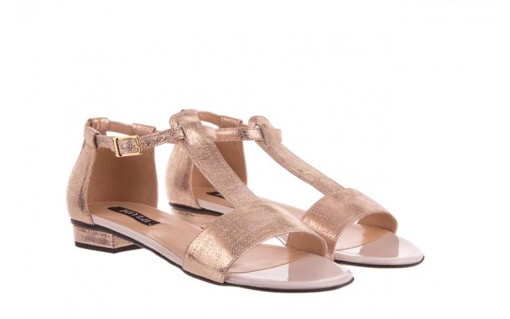Sandały bayla-130 03876 0106-13 róż złocony 130023, skóra naturalna  - sandały - dla niej - dodatkowe -10% 1