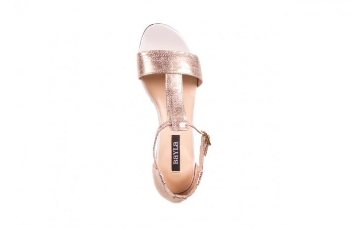 Sandały bayla-130 03876 0106-13 róż złocony 130023, skóra naturalna  - sandały - dla niej - dodatkowe -10% 4