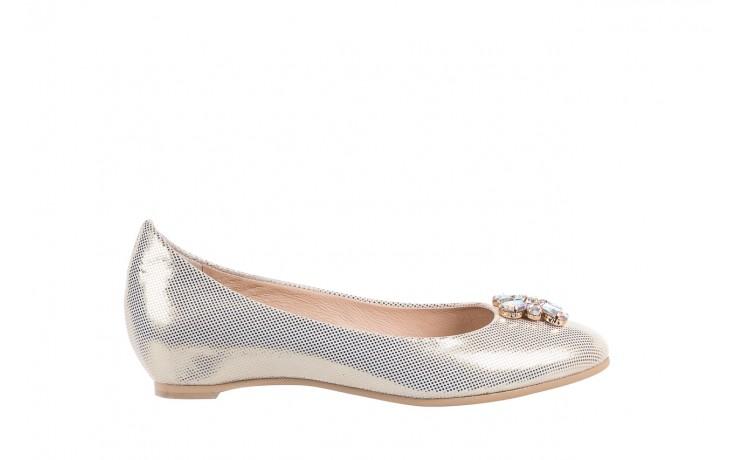 Baleriny bayla-130 04105-065w-02 złoty, skóra naturalna  - ślubne - baleriny - buty damskie - kobieta