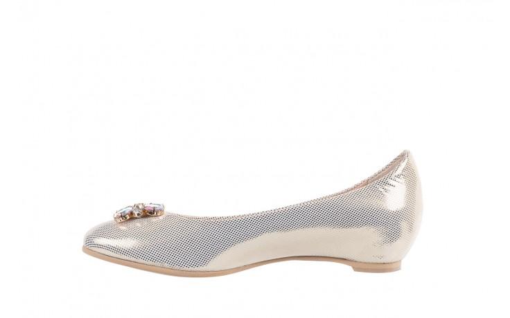 Baleriny bayla-130 04105-065w-02 złoty, skóra naturalna  - ślubne - baleriny - buty damskie - kobieta 2