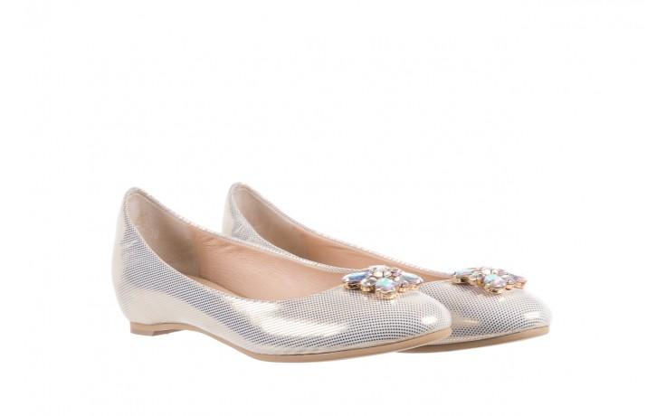 Baleriny bayla-130 04105-065w-02 złoty, skóra naturalna  - ślubne - baleriny - buty damskie - kobieta 1