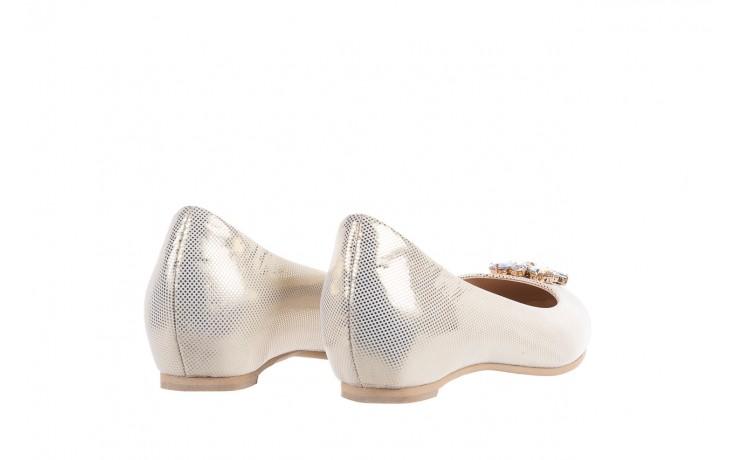 Baleriny bayla-130 04105-065w-02 złoty, skóra naturalna  - ślubne - baleriny - buty damskie - kobieta 3