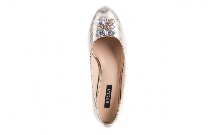 Baleriny bayla-130 04105-065w-02 złoty, skóra naturalna  - ślubne - baleriny - buty damskie - kobieta 4