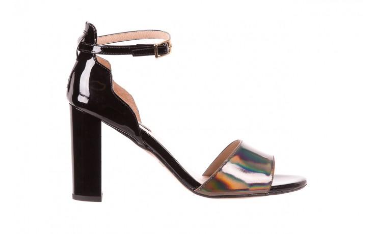 Sandały bayla-130 04322-0124-06 czarny l, skóra naturalna lakierowana  - bayla - nasze marki