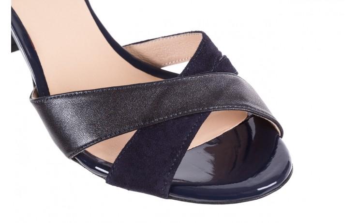 Sandały bayla-130 04347-0125-05 granat z, skóra naturalna  - sandały - dla niej - dodatkowe -10% 5