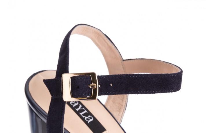 Sandały bayla-130 04347-0125-05 granat z, skóra naturalna  - sandały - dla niej - dodatkowe -10% 6