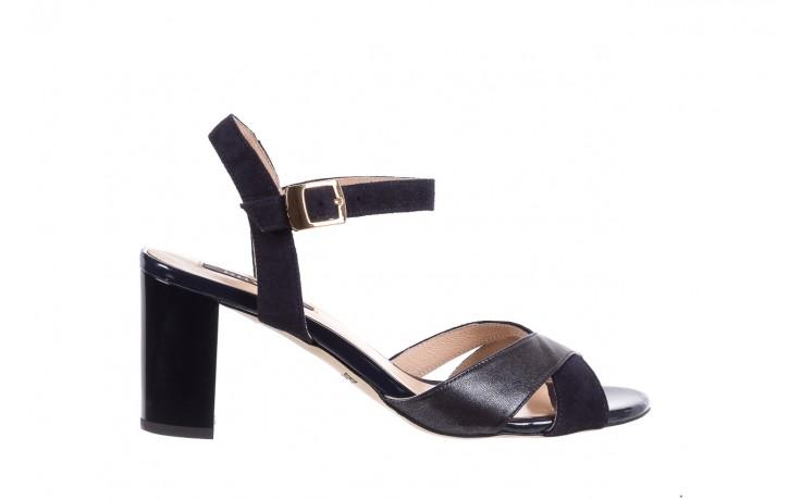 Sandały bayla-130 04347-0125-05 granat z, skóra naturalna  - sandały - dla niej - dodatkowe -10%