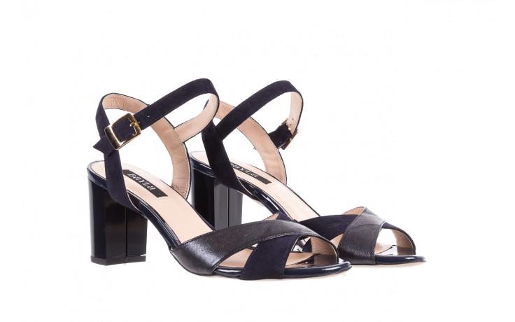 Sandały bayla-130 04347-0125-05 granat z, skóra naturalna  - sandały - dla niej - dodatkowe -10% 1
