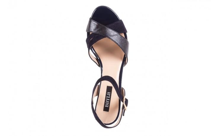 Sandały bayla-130 04347-0125-05 granat z, skóra naturalna  - sandały - dla niej - dodatkowe -10% 4