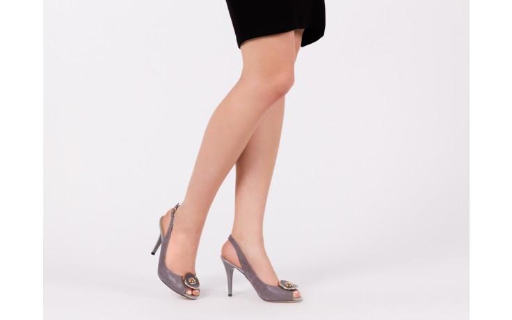 Sandały bayla-130 3899-092-910 popiel, skóra naturalna  - bayla - nasze marki 6