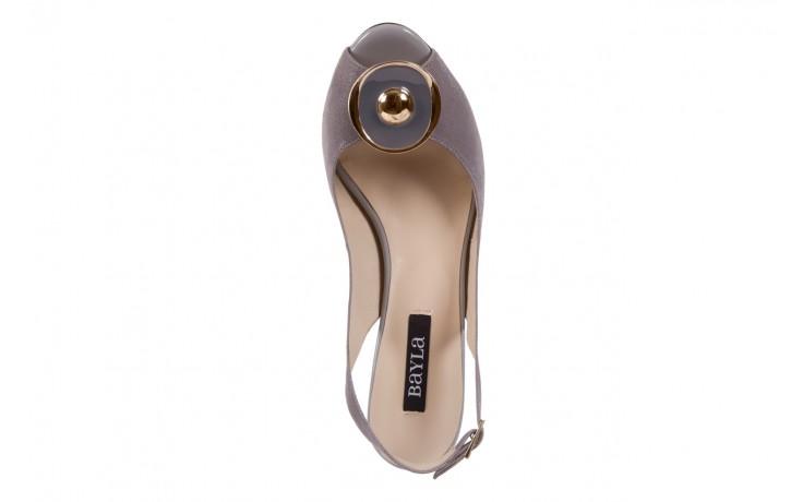Sandały bayla-130 3899-092-910 popiel, skóra naturalna  - bayla - nasze marki 4