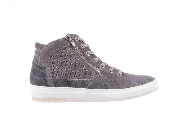 Sneakersy bayla-131 1202 grigio, szary, skóra naturalna - mid season sale -30%