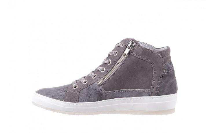 Sneakersy bayla-131 1202 grigio, szary, skóra naturalna - mid season sale -30% 2
