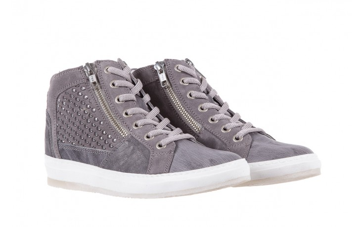 Sneakersy bayla-131 1202 grigio, szary, skóra naturalna - mid season sale -30% 1