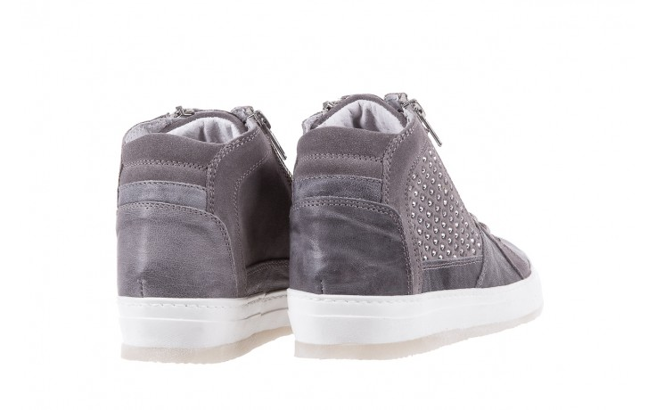 Sneakersy bayla-131 1202 grigio, szary, skóra naturalna - mid season sale -30% 3