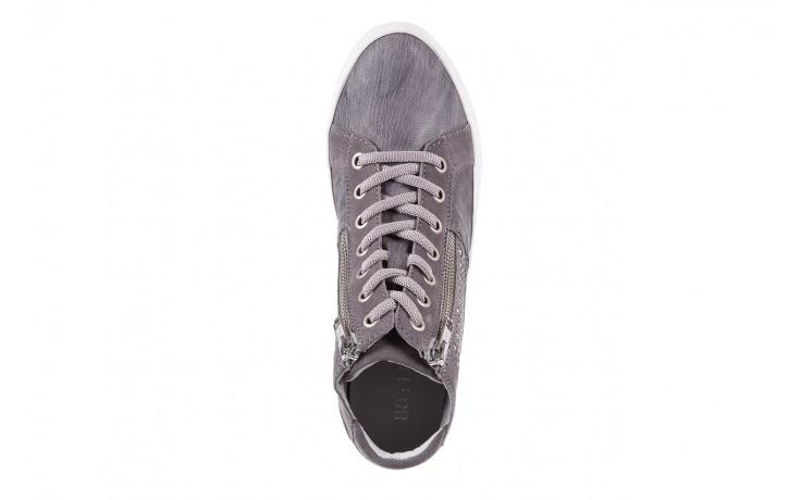 Sneakersy bayla-131 1202 grigio, szary, skóra naturalna - mid season sale -30% 4