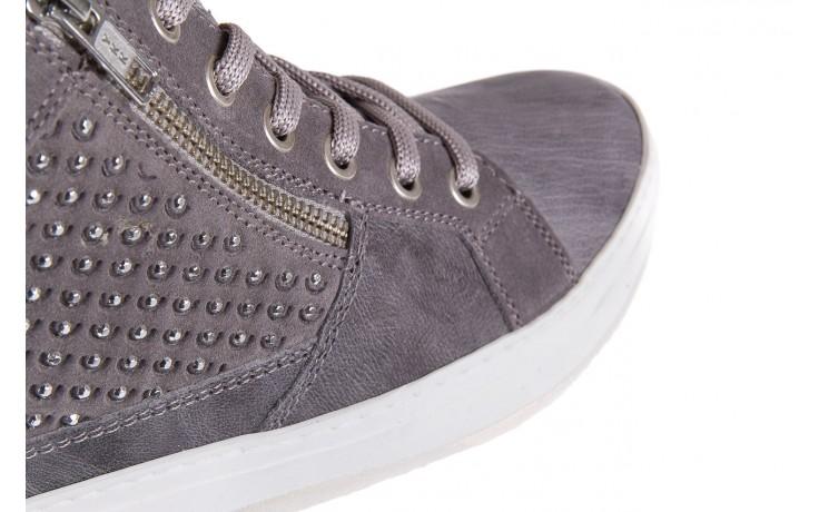 Sneakersy bayla-131 1202 grigio, szary, skóra naturalna - mid season sale -30% 5