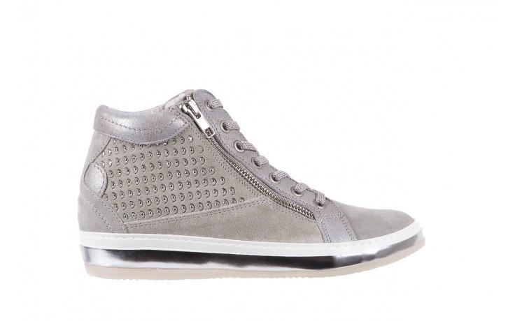 Sneakersy bayla-131 1217 perla, szary, skóra naturalna  - hity cenowe