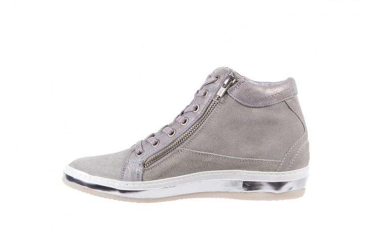 Sneakersy bayla-131 1217 perla, szary, skóra naturalna  - hity cenowe 2