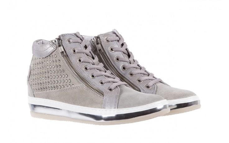 Sneakersy bayla-131 1217 perla, szary, skóra naturalna  - hity cenowe 1