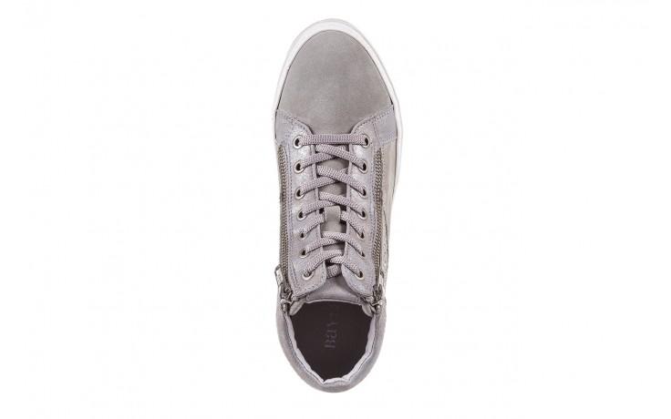 Sneakersy bayla-131 1217 perla, szary, skóra naturalna  - hity cenowe 4