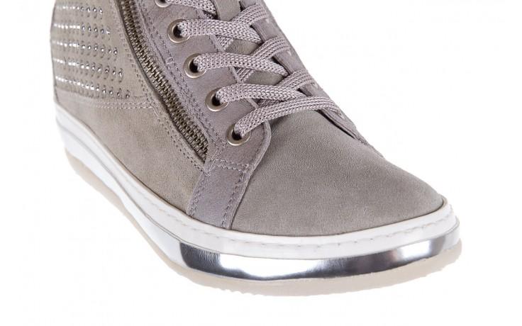 Sneakersy bayla-131 1217 perla, szary, skóra naturalna  - hity cenowe 5