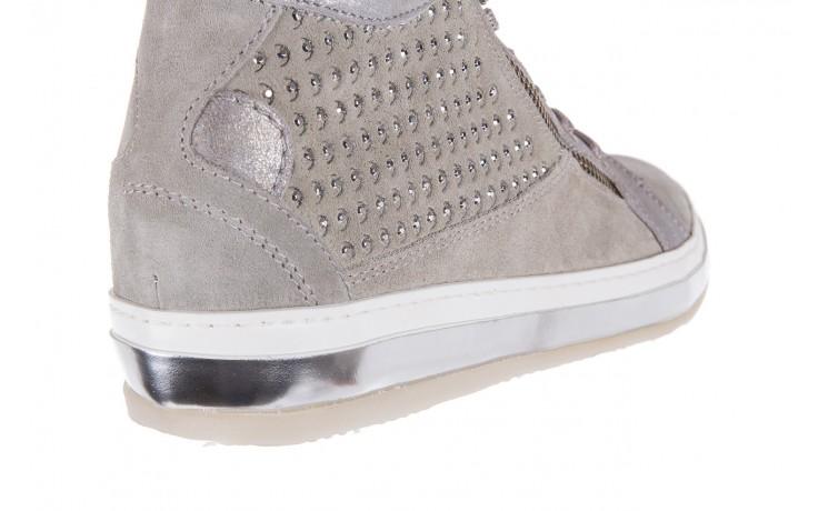 Sneakersy bayla-131 1217 perla, szary, skóra naturalna  - hity cenowe 6