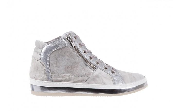 Sneakersy bayla-131 1219 zinco, szary, skóra naturalna  - obuwie sportowe - dla niej - dodatkowe -10%