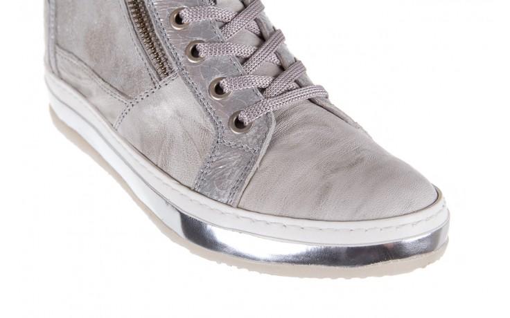 Sneakersy bayla-131 1219 zinco, szary, skóra naturalna  - obuwie sportowe - dla niej - dodatkowe -10% 5