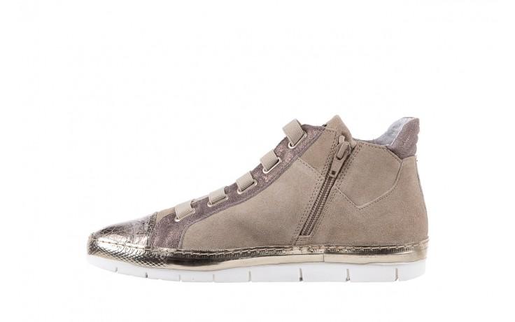 Trampki bayla-131 1304 sand, róż/złoty, skóra naturalna  - skórzane - trampki - buty damskie - kobieta 2