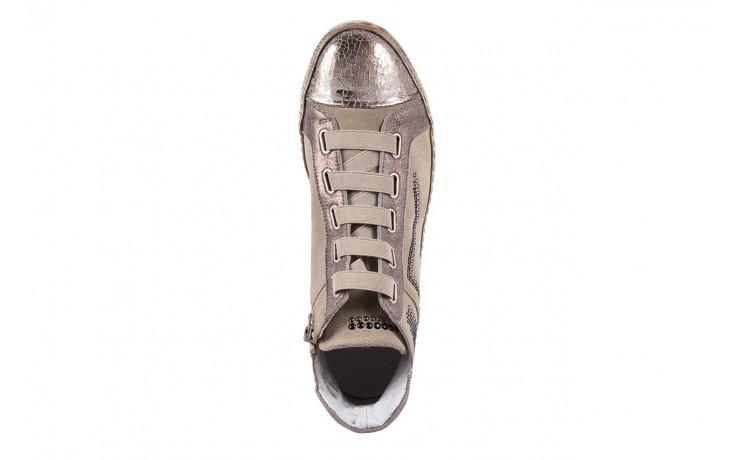 Trampki bayla-131 1304 sand, róż/złoty, skóra naturalna  - skórzane - trampki - buty damskie - kobieta 4