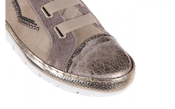 Trampki bayla-131 1304 sand, róż/złoty, skóra naturalna  - skórzane - trampki - buty damskie - kobieta 5