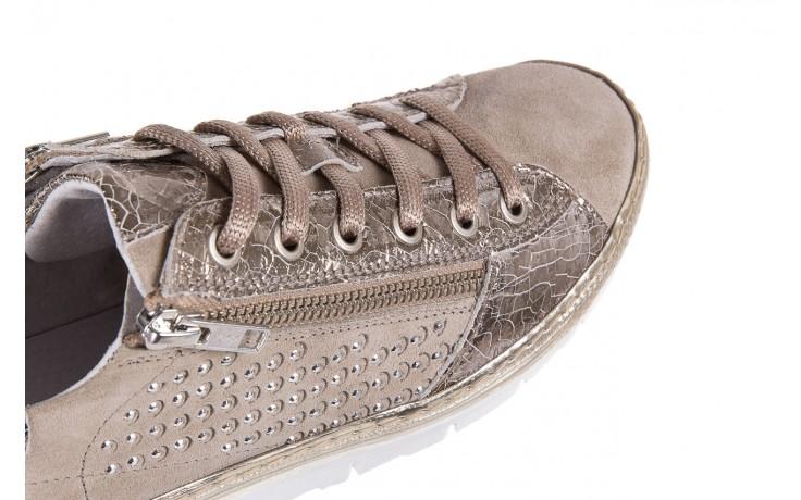 Trampki bayla-131 1317 sand, beż, skóra naturalna  - skórzane - trampki - buty damskie - kobieta 5