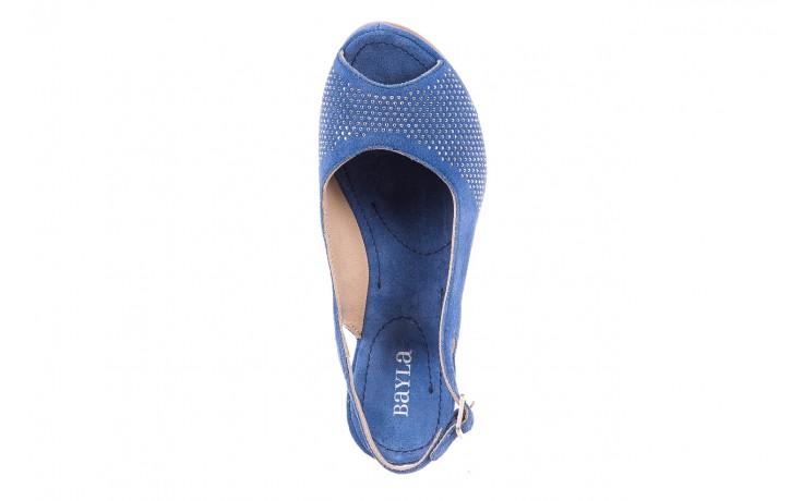 Sandały bayla-131 2507 cobalto, niebieski, skóra naturalna  - bayla - nasze marki 4