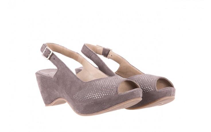 Sandały bayla-131 2507 grigio, szary, skóra naturalna  - bayla - nasze marki 1