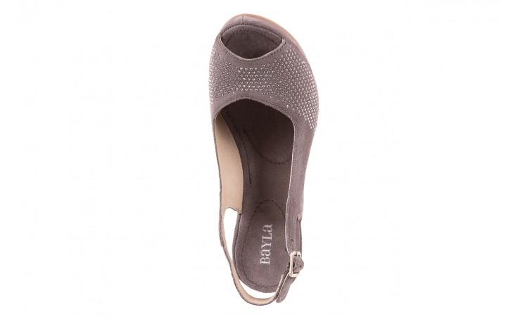 Sandały bayla-131 2507 grigio, szary, skóra naturalna  - bayla - nasze marki 4