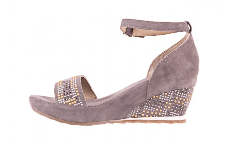 Sandały bayla-131 2701 grigio, szary, skóra naturalna  - koturny - dla niej  - sale 2