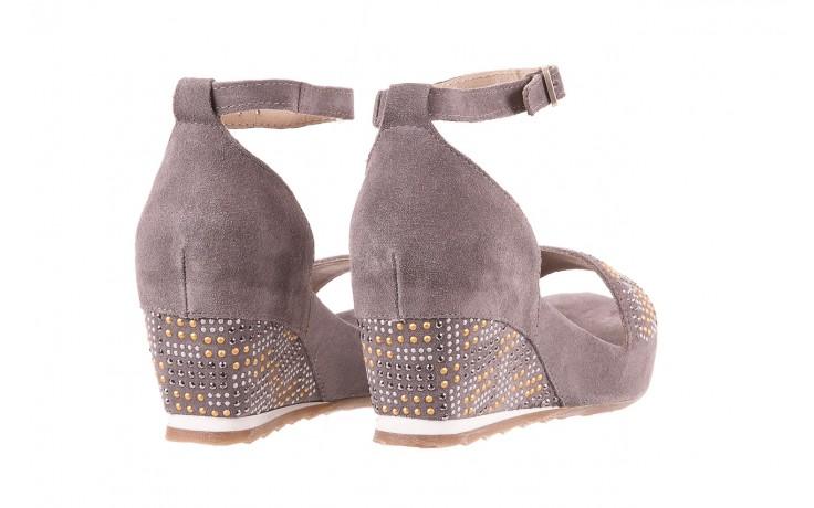 Sandały bayla-131 2701 grigio, szary, skóra naturalna  - koturny - dla niej  - sale 3