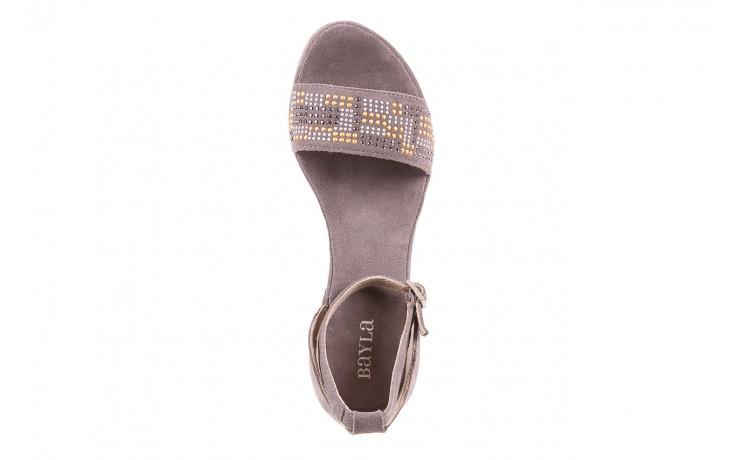 Sandały bayla-131 2701 grigio, szary, skóra naturalna  - koturny - dla niej  - sale 4